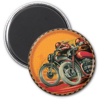 Motorcycle Racers 2 Inch Round Magnet
