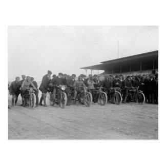 Motorcycle Races, 1915 Postcard