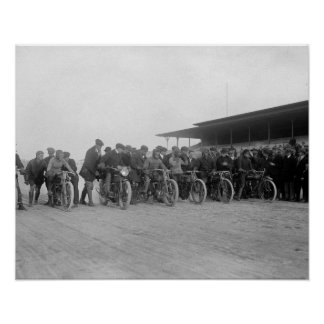 Motorcycle Races 1915 Print