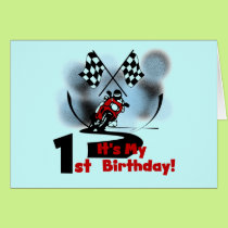 Motorcycle Racing 1st Birthday Tshirts and Gifts Card