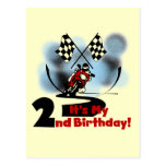 Motorcycle Racing 2nd Birthday Tshirts and Gifts Postcards