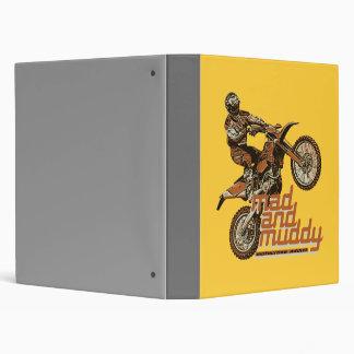 Motorcycle racing 3 ring binder