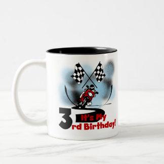 Motorcycle Racing 3rd Birthday Two-Tone Coffee Mug