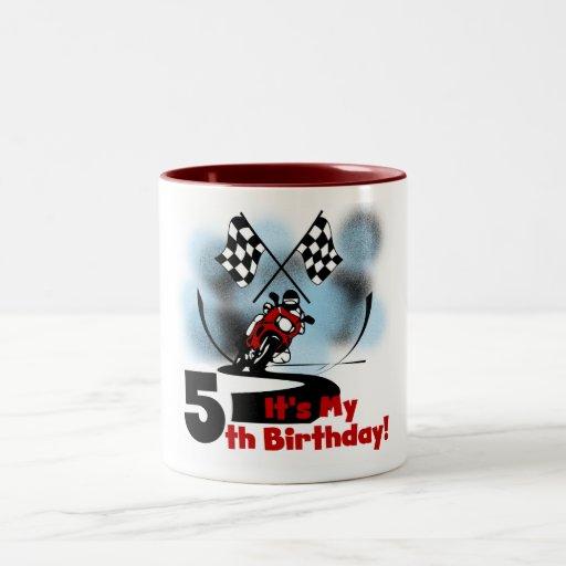 Motorcycle Racing 5th Birthday Coffee Mug