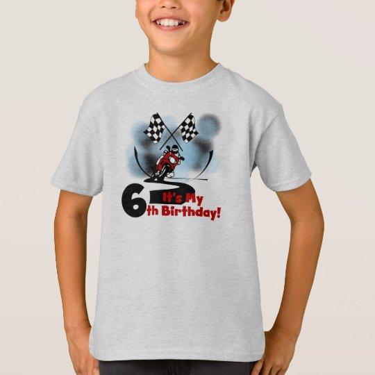 Motorcycle Racing 6th Birthday T-Shirt