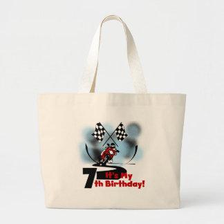 Motorcycle Racing 7th Birthday Canvas Bag
