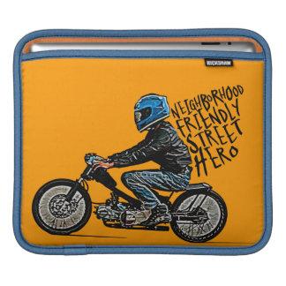 Motorcycle racing addict sleeve for iPads