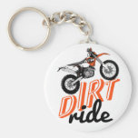 Motorcycle racing basic round button keychain
