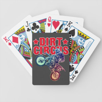 Motorcycle racing bicycle playing cards