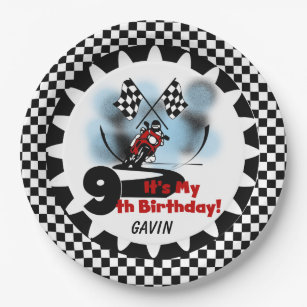 Motorcycle Racing Birthday Paper Plates  sc 1 st  Zazzle & Motorcycle Birthday Plates | Zazzle
