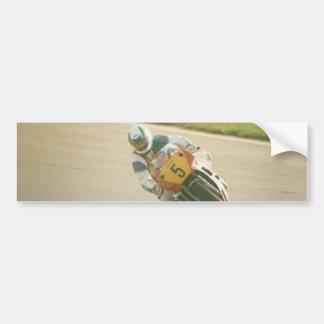 Motorcycle Racing Car Bumper Sticker