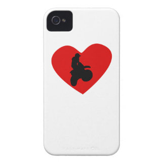 Motorcycle Racing Heart iPhone 4 Covers