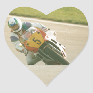 Motorcycle Racing Heart Sticker