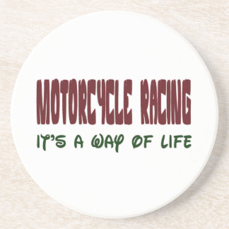 Motorcycle Racing It's a way of life Beverage Coasters