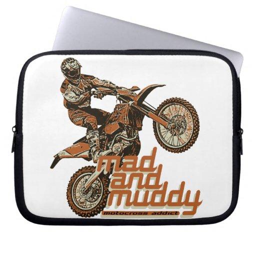 Motorcycle racing laptop computer sleeves