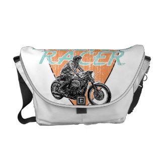 Motorcycle racing messenger bag