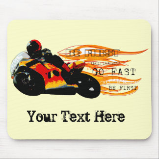 Motorcycle Racing Mouse Pad