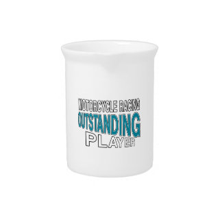 MOTORCYCLE RACING OUTSTANDING PLAYER BEVERAGE PITCHER