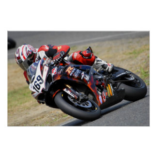 motorcycle racing poster