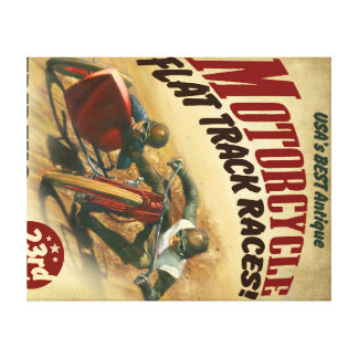 MOTORCYCLE RACING POSTER CANVAS PRINT