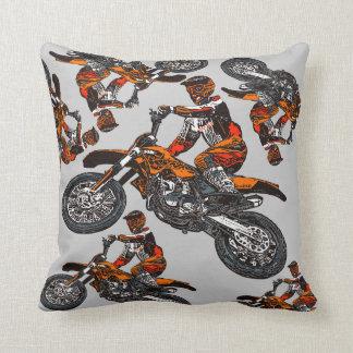 Motorcycle racing throw pillow