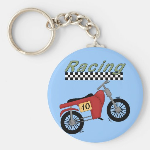 Motorcycle Racing Tshirts and Gifts Basic Round Button Keychain