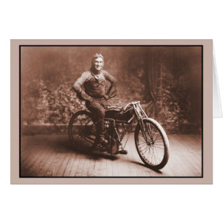 Motorcycle racing: Winner 100 mi. race, Norton KS Stationery Note Card