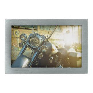 motorcycle rectangular belt buckle
