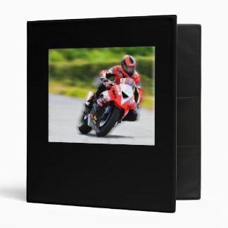 Motorcycle Red Racer 3 Ring Binder