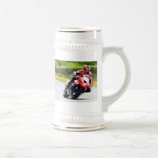 Motorcycle Red Racer Beer Stein