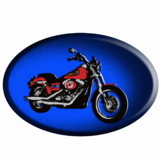 Motorcycle red road bike moulded keychain photo sculpture keychain