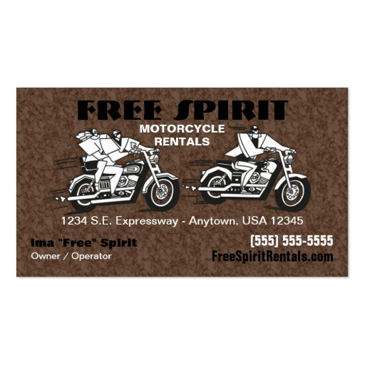 Motorcycle Rentals Business Card
