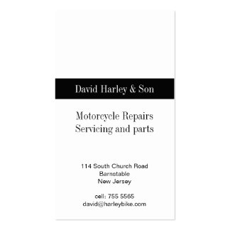Motorcycle repair and servicing business card