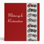 MOTORCYCLE RESTORATION red white grey Binder