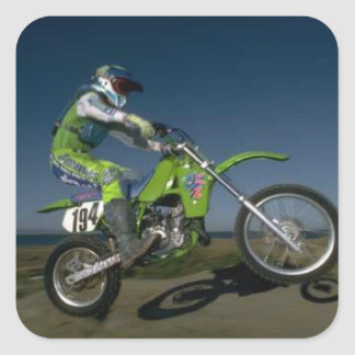 Motorcycle rider 194 square stickers