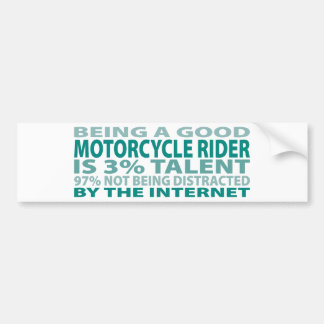 Motorcycle Rider 3% Talent Bumper Sticker