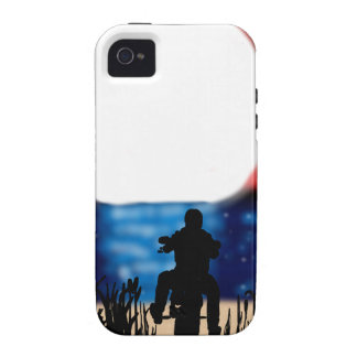 Motorcycle Rider Watching Sunset iPhone 4 Cover