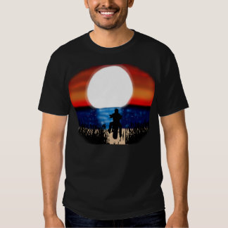 Motorcycle Rider Watching The Sunset Tees