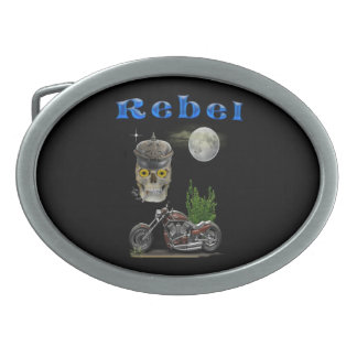 motorcycle riders merchandise oval belt buckle