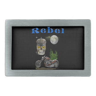 motorcycle riders merchandise rectangular belt buckle