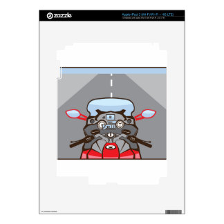 Motorcycle Riders View Color Road ahead Decals For iPad 3