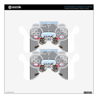Motorcycle Riders View Color Road ahead PS3 Controller Skin