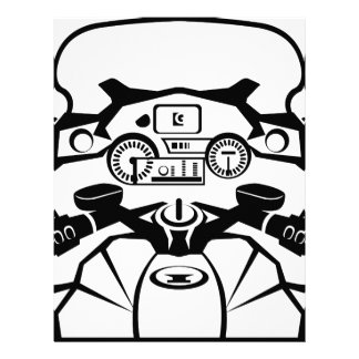 Motorcycle Riders View Letterhead