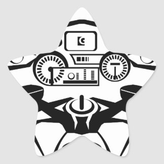 Motorcycle Riders View Star Sticker