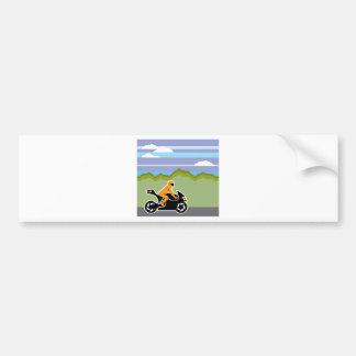 Motorcycle riding bumper sticker