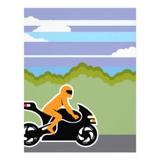 Motorcycle riding letterhead