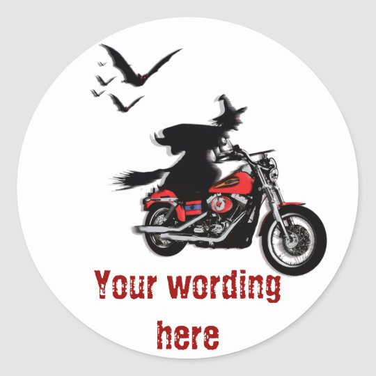 Hexe Auf Motorrad