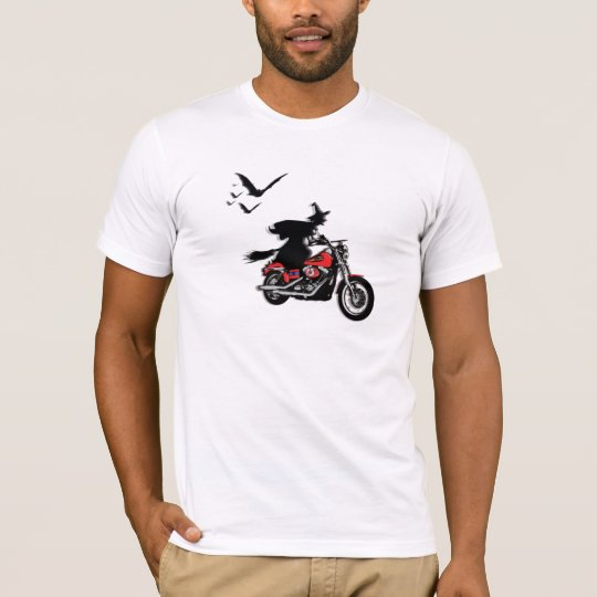 Motorcycle riding witch t-shirts