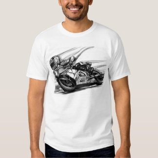 Motorcycle Road Racing illustrated T-shirt