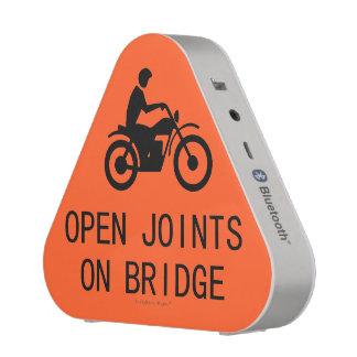 Motorcycle Road Sign - Open Joints On Bridge Bluetooth Speaker
